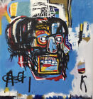 Hand Painted Abstract Painting On Stretched Canvas 12Wx13H Jean Michel Basquiat