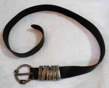 DIESEL ceinture cuir noir T 80 TBE