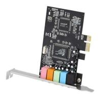 PCIE Express 5.1 Channel 5 Port Chipset Audio Digital Stereo Surround Sound Card