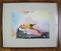 "JOSEPH DEVERNAY ""NEW YORK 1960 #8"" ABSTRACT PAINTING FRAMED"