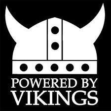 """Powered By Vikings"" vinyl decal sticker Swedish hella flush,Norse,T5,Baltic"