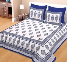 King Size  Bedspread 100% Cotton Bed Sheet  With 2 Pillow Cover