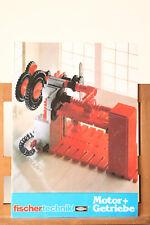 fischer technik Bauanleitung für Motor + Getriebe  (60101)