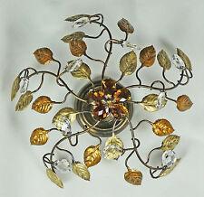 Lampe de plafond lumière LED en fer forgé et wroight cristal rouille, l'article 502 nouveau