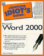 The Complete Idiot's Guide to Microsoft Word 2000-Dan Bobala