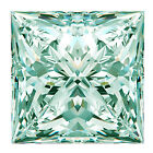 2.22 ct VVS1/7.95 MM GENUINE WHITE ICE BLUE COLOR PRINCESS LOOSE REAL MOISSANITE