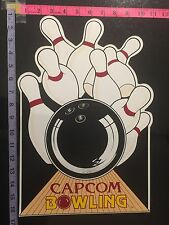 Capcom Bowling Side Sticker For Arcade Orginal New