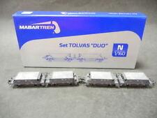 Mabar Tren 87204 Trichterwagen Set mit 4 Wagen inkl. Ladegut R.N. gris Neu