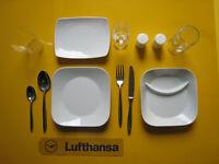 Lufthansa LH First Class ROSENTHAL SCHÖNWALD Bordgeschirr Service Gedeck Set V6