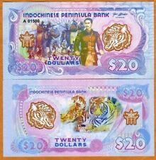 Indochinese Peninsula,  $20, 2021, Clear Window Polymer, UNC > Battle, Tiger