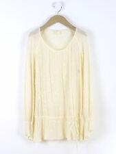 Ghost Da Donna Color Crema Ricamato Blusa misura UK 8