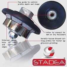 "Diamond Profile Wheel Bit 3/16"" Bevel for Granite Stone Tile Countertop Edges E5"