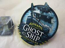 More details for adnam's ghost ship metal beer pump clip badge   please read description