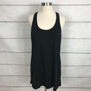 Lululemon Every Yogi Tank Top Black Size 12 Cotton Blend Yoga Running
