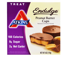 NEW ATKINS ENDULGE PEANUT BUTTER CUPS FOOD & GROCERIES TREAT NUTRITIONAL 5 PACKS