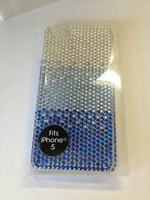 I Phone 5 Apple Case Blue With Bling Fades Fron Dark to Light NWT