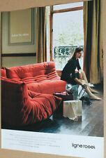 Ligne Roset. Sofa Togo. Original-Werbeanzeige 2007. Reklame Werbung.