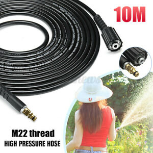 10M Water Pipe Hose High Pressure Washer Sewer Drain Cleaner For Karcher