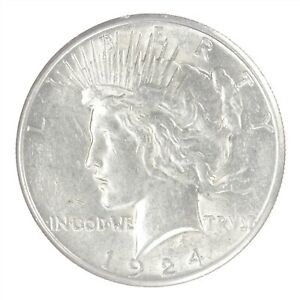 1924-S Peace Dollar BU Uncirculated JO/2355