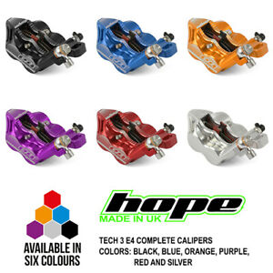 Hope Tech 3 E4 Brake Complete Calipers HBSPC58 - All Colors - New
