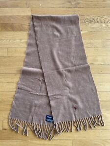 Polo Ralph Lauren Men's Brown Lambs Wool  Classic Scarf