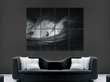 SURF OCEAN WAVE SURFER SURFING THE WAVE  ART HUGE LARGE  GIANT POSTER PRINT