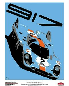 Vintage Racing Porsche 917k Limited Edition 1 of 917 Hunziker Poster PECLA
