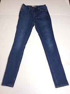 Bullhead Denim Womens Size 25 Jeans High Rise Skinniest Skinny Leg Medium Wash