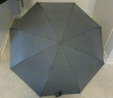 Regenschirm grau schwarz kariert 95x55cm