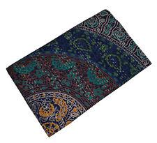 Hand Block Print Twin Cotton Kantha Quilt Throw Blanket Bedspread Mandala Gudari