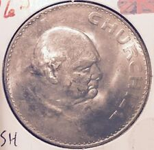 1965 UNCIRCULATED WINSTON CHURCHILL / QUEEN ELIZABETH II  BRITISH CROWN  COIN #8