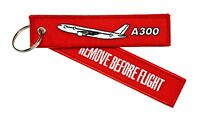 Remove Before Flight Anhänger - A300 Airbus