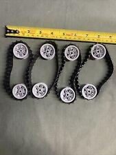 4 Lego Rubber Tire 36 Tread Belts Technic Mindstorm Tank Caterpillar Tracks