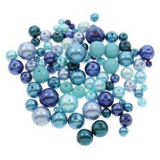 250g Glaswachsperlen Konvolut Wachsperlen Blau Perlen Set 4 6 8 10 12mm D35