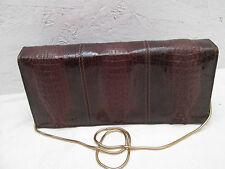 Magnifique sac à main en croco véritable PACO'S  TBEG vintage bag *