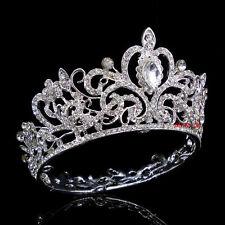Luxus 5.5cm hoch Königin Hochzeit Braut Haarschmuck Haarreif Krone Diademe Tiara