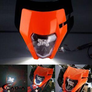 Dirt Bike LED Headlight For EXC XCW EXCF SXF XCF 250 350 450 690 FE TE TC Enduro