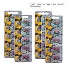 Maxell 395 SR927SW SR927 Silver Oxide Watch Batteries (20Pcs)