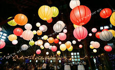 """10X 12"""" Color Chinese paper lanterns+ LED Light Wedding Party Floral decoration"""