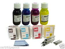 Refillable Pigment ink set for HP 940 Pro 8000 Pro 8500 Pro 8500A 4x4oz/s