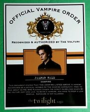 TWILIGHT OFFICIAL VAMPIRE ORDER VOLTURI JASPER HALE JACKSON RATHBONE CARD