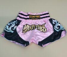 Shorts Muay Thai Fight Kick Boxing Lumpini Mma Multi Pink Black New Size L Satin