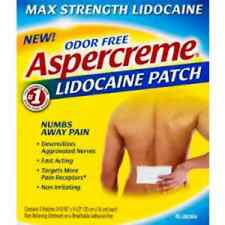 ASPERCREME W/Lidocaine 4% Pain Relief Patch (5 patches in each box)