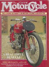 *THE CLASSIC MOTORCYCLE MAGAZINE - OCTOBER 1988 - ft 1938 350cc BENELLI [NO]