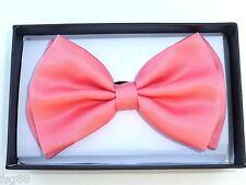 New Bow Tie Coral Pinkish Orange BowTie Ties Tuxedo  US SELLER