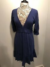 Velvet by Graham & Spencer Blue 100% Cotton Casual Wear Dress Size Large