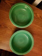 "Fiesta, Vintage, 8 1/2"" Nappy Bowl, Fiestaware,  Original Green"