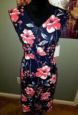 Ivanka Trump Women's Floral Midi Sheath Dress! NWT Size 14 Multicolored!