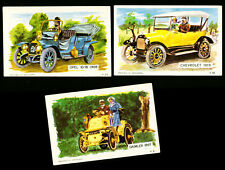 3 DANDY KAUGUMMI SAMMELBILDER 60s OLDTIMER DENMARK BUBBLE GUM CHEWING GUM CARDS