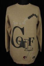 Damen-Pullover & -Strickware mit U-Ausschnitt aus Wolle in Langgröße